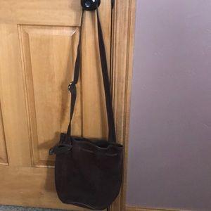 Vintage coach bucket bag suede
